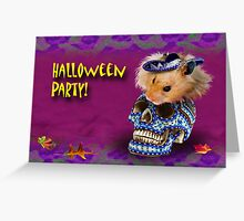 Halloween Party Hamster Greeting Card