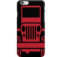 RED JEEP iphone case iPhone Case/Skin