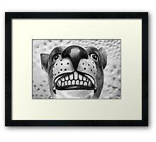 Bulldog Smile Framed Print