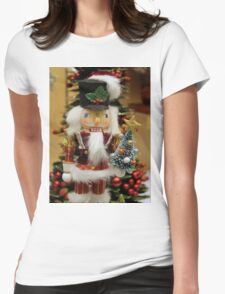 Nutcracker With Christmas Tree Womens Fitted T-Shirt