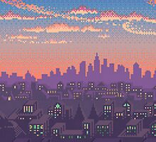 Pixel Cityscape by FreePrometheus