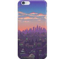 Pixel Cityscape iPhone Case/Skin