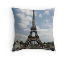 Eiffel Tower during the day Throw Pillow