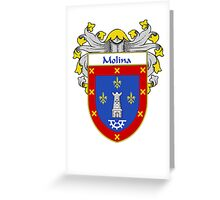 Molina Coat of Arms/Family Crest Greeting Card