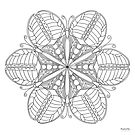 Butterfly Mandala Print - Color Your Own! by TheMandalaLady