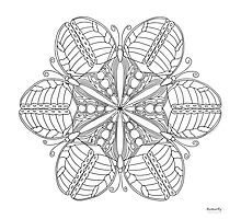 Butterfly Mandala Print - Color Your Own! Photographic Print