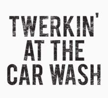 Twerking At The Car Wash (worn look) by KRDesign