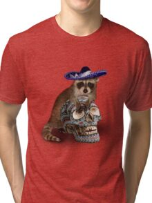 Day Of The Dead Raccoon Tri-blend T-Shirt