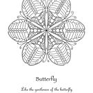 Butterfly Mandala Poster - Color Your Own by TheMandalaLady