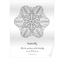 Butterfly Mandala Poster - Color Your Own Poster