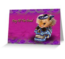 Day of the Dead Hamster Greeting Card