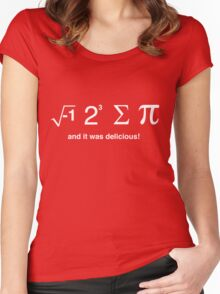 I ate pi and it was delicious Women's Fitted Scoop T-Shirt