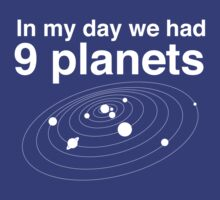 In my day we had 9 planets by contoured