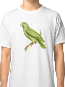 Green Parrot Bird Illustration by William Swainson Classic T-Shirt