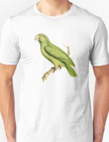 Green Parrot Bird Illustration by William Swainson Unisex T-Shirt