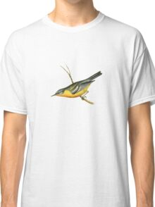 Grey-backed Warbler Bird Illustration by William Swainson Classic T-Shirt
