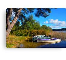 Loch Ard Boats Canvas Print