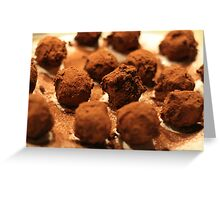 Baileys Chocolate Truffles Greeting Card