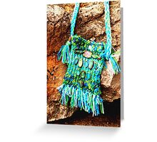 Turquoise BoHo Bag Greeting Card