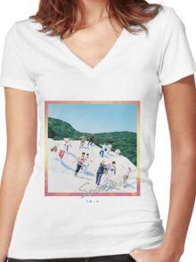 Seventeen 'Boys Be' Women's Fitted V-Neck T-Shirt