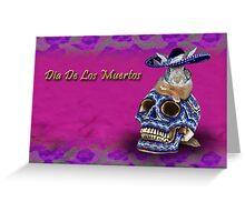 Dia De Los Muertos Day Of The Dead Bunny Rabbit Greeting Card