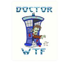 Zombie Doctor Who Art Print