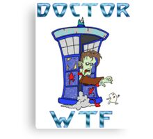 Zombie Doctor Who Canvas Print