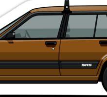 Toyota Tercel SR5 4WD Wagon AL25 (bronze) Sticker