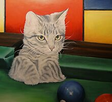 Kitten in a Side Pocket by Pam Humbargar