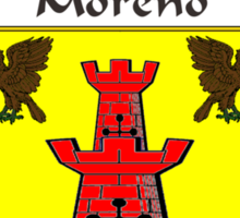 Moreno Coat of Arms/Family Crest Sticker