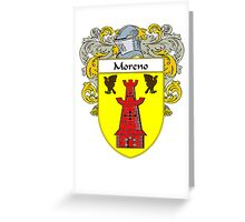 Moreno Coat of Arms/Family Crest Greeting Card