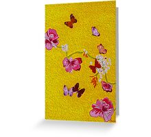 Butterflies - Acid yellow Greeting Card