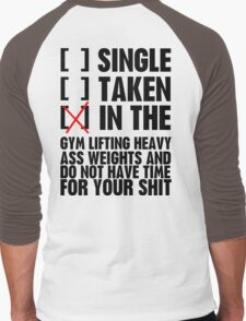 Relationship status GYM Men's Baseball ¾ T-Shirt