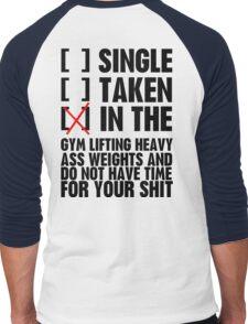 Relationship status GYM Men's Baseball ¾ T-Shirt