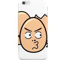 One punch egg man, funny egg head iPhone Case/Skin