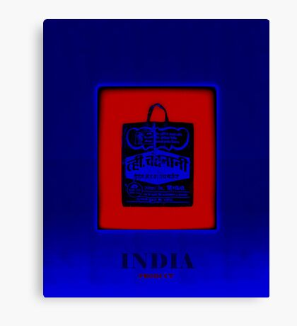 The Bag    Blue-Red Canvas Print