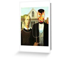 American Iron Greeting Card
