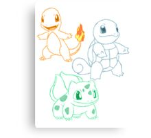 Starter Pokemon Canvas Print