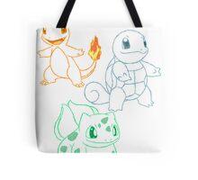 Starter Pokemon Tote Bag