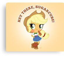 cute Equestria girls - applejack Canvas Print