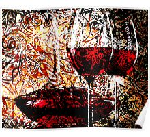 Abstract Influenced by Red Wine Poster