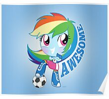 cute Equestria girls - Rainbowdash Poster
