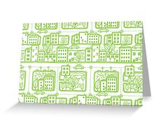 City streets pattern Greeting Card