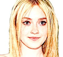 Dakota Fanning 1 by John Novis