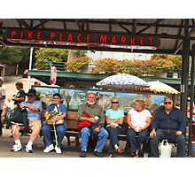 Pike Place Market Stop Photographic Print