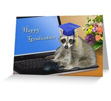 Happy Graduation Raccoon Greeting Card