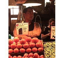 Fruit Vendor Photographic Print