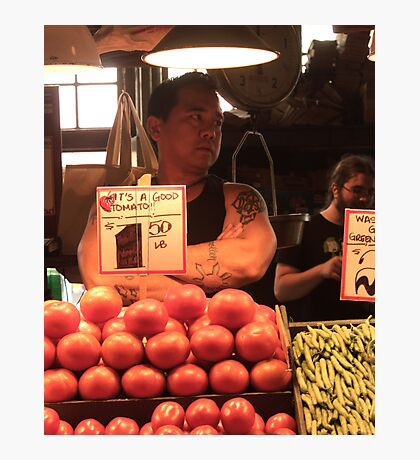 Fruit Vendor Photographic Print