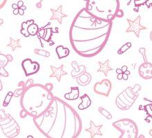 Cute baby girl pattern Sticker