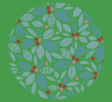 Holly berries and leaves pattern Kids Clothes